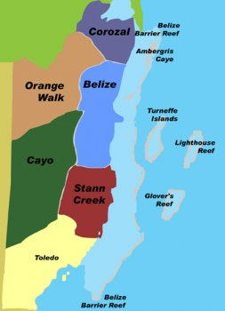 Belize districts and atolls