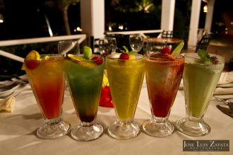 Delicious cocktails are served throughout San Pedro town