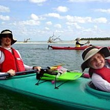 We have double kayaks for kids that can help paddle out to snorkeling spots